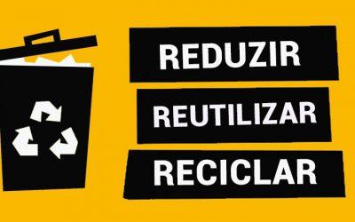 OFICINA – Reciclar e Brincar Através das Mãos Com os 3 erres (Reduzir, Reutilizar e Reciclar)